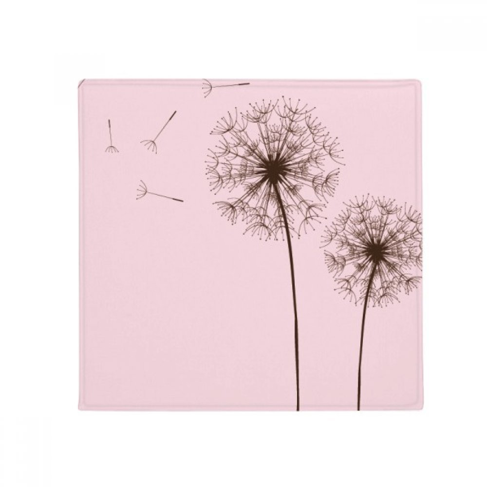 60X60cm DIYthinker Flower Plant Dandelion Seed Anti-Slip Floor Pet Mat Square Bathroom Living Room Kitchen Door 60 50Cm Gift
