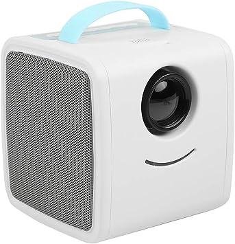 Opinión sobre ASHATA Mini Proyector,Educación Temprana Proyector LED Portátil para Ver Videos,Escuchar Música, Estudiar.Cine en Casa para Regalo de los Niños(Protege los Ojos,Apoyo Múltiples Idiomas)(Azul)
