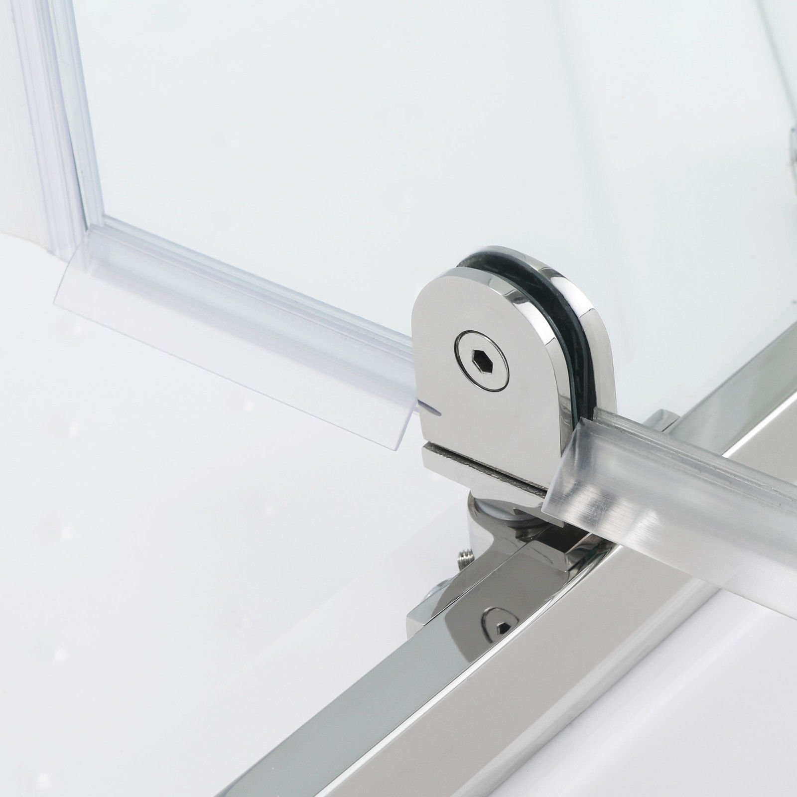 SUNNY SHOWER A33, Semi-frameless Neo-Angle Corner Shower Doors, Fit to 36 3/5'' W x 36 3/5'' D x 71 4/5'' H, 1/4'' Clear Glass, Chrome Finish- Back-wall & Shower Base Sold Separately by SUNNY SHOWER (Image #4)