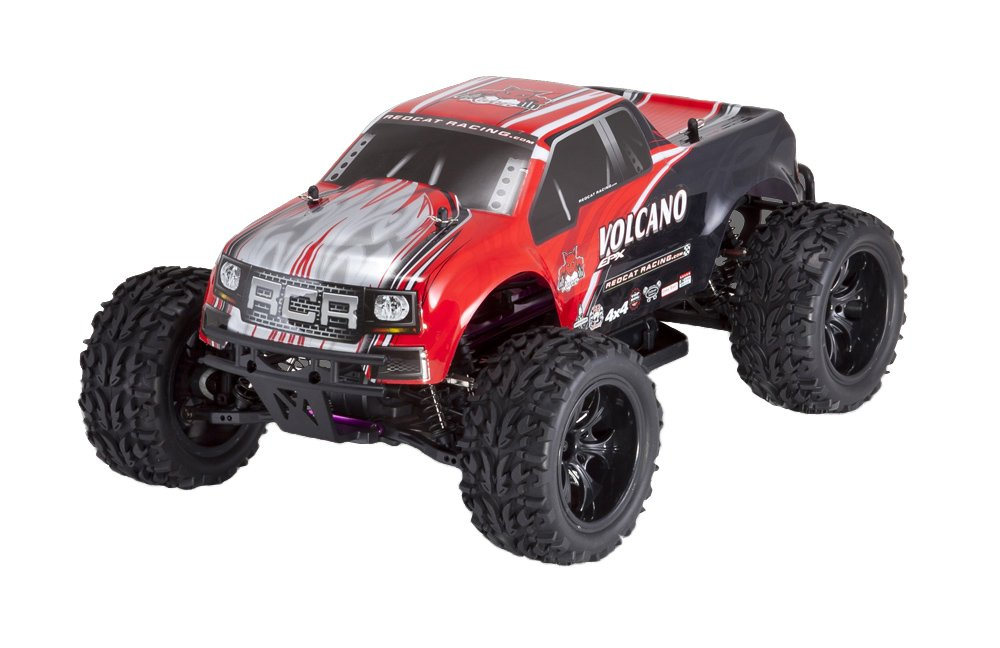 Redcat Racing Electric Volcano EPX Truck with 2.4GHz Radio,Vehicle Battery and Charger Included (1/10 Scale), Red by Redcat Racing (Image #4)