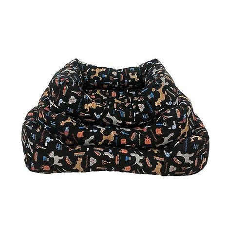 Cama para Mascotas de Terciopelo, cojín para Perros, colchoneta para Perros y Gatos Modelo Stylist CM-DA (100 x 80 cm)