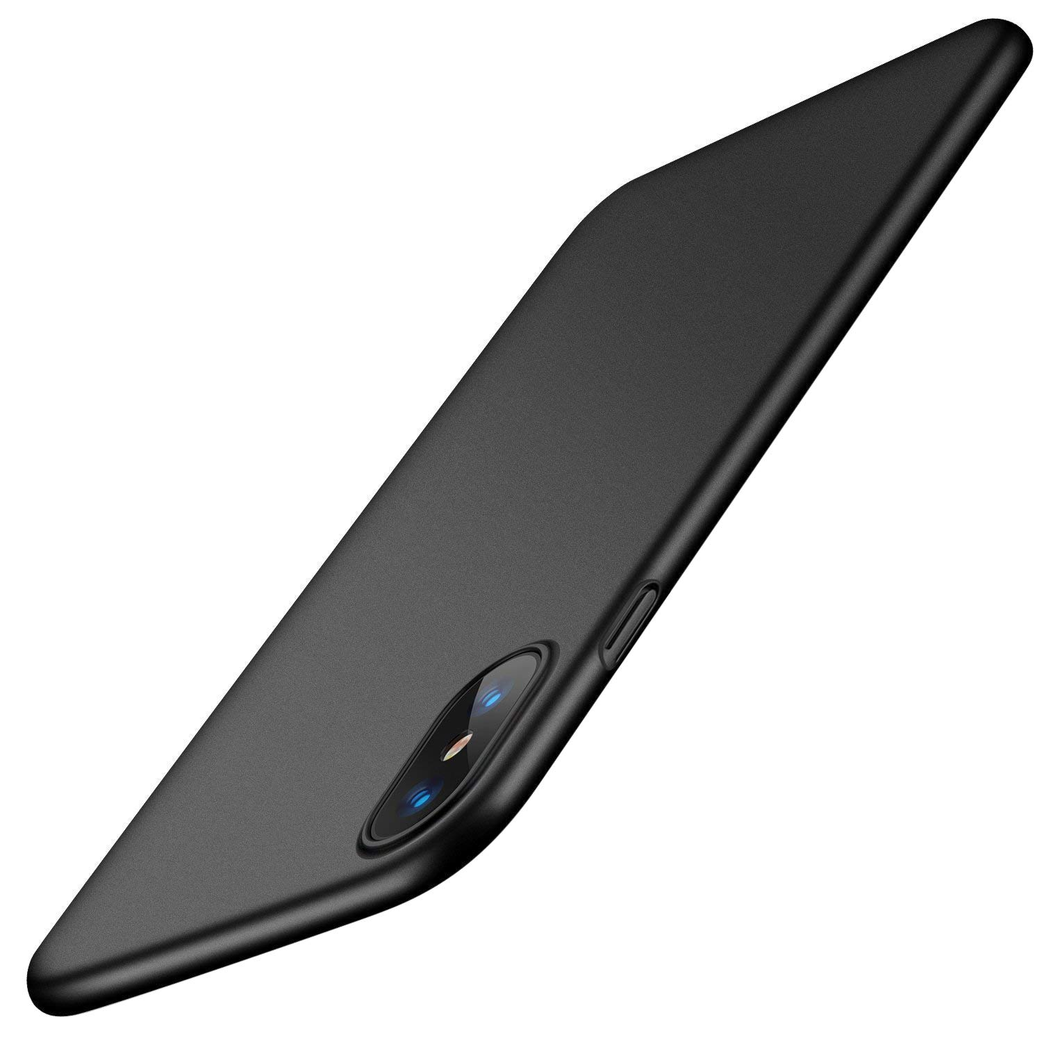 TORRAS Slim Fit iPhone XS Case/iPhone X Case, Hard Plastic PC Super Thin Mobile Phone Cover Case with Matte Finish Coating Grip Compatible with iPhone X/iPhone XS 5.8 inch, Space Black