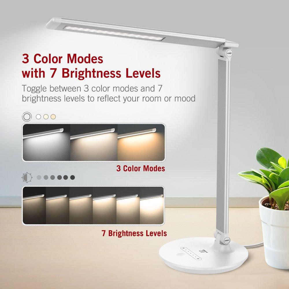 Tête 7 Bureau Taotronics Led Lampe Couleuramp; Mémoire Avec Luminosité 3 Lamp Et Rotative De Modes Niveaux RéglableFonction thdxsQrCB
