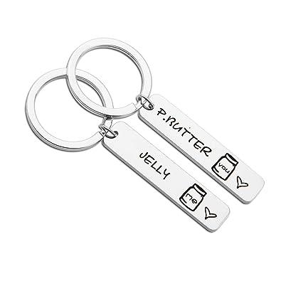 Amazon.com: Juego de llaveros a juego para parejas ...
