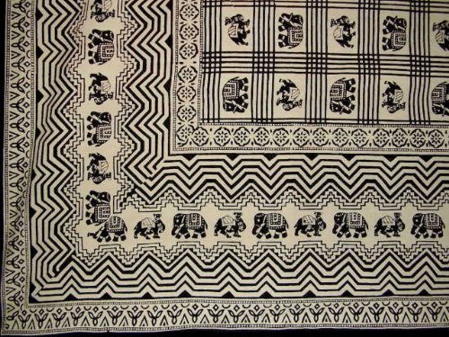 African Print Tapestry Cotton Bedspread 108