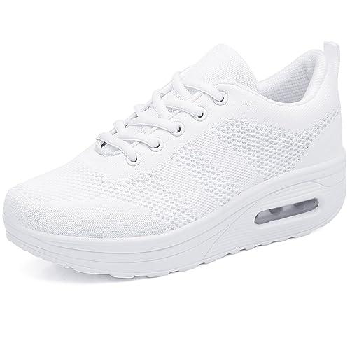 Zapatillas fitness con cordones y plataforma para mujeres Solshine Walkmaxx shape-up: Amazon.es: Zapatos y complementos