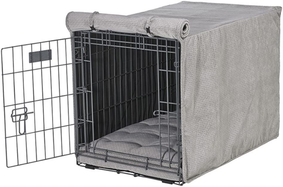 Bowsers Luxury Crate Cover, Medium, Silver Treats