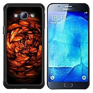 TECHCASE---Cubierta de la caja de protección para la piel dura ** Samsung Galaxy A8 ( A8000 ) ** --Abstracto rojo