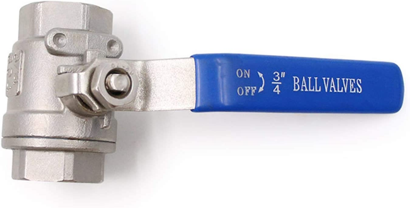 Gas Size : 3//8 Oil with Vinyl Handle Stainless Steel 304 Port Ball Valve Thread Valves for Water