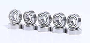 10 Bearing R4 ZZ 1/4 x 5/8 x 0.196 inch Shielded Miniature Ball R4 Bearing