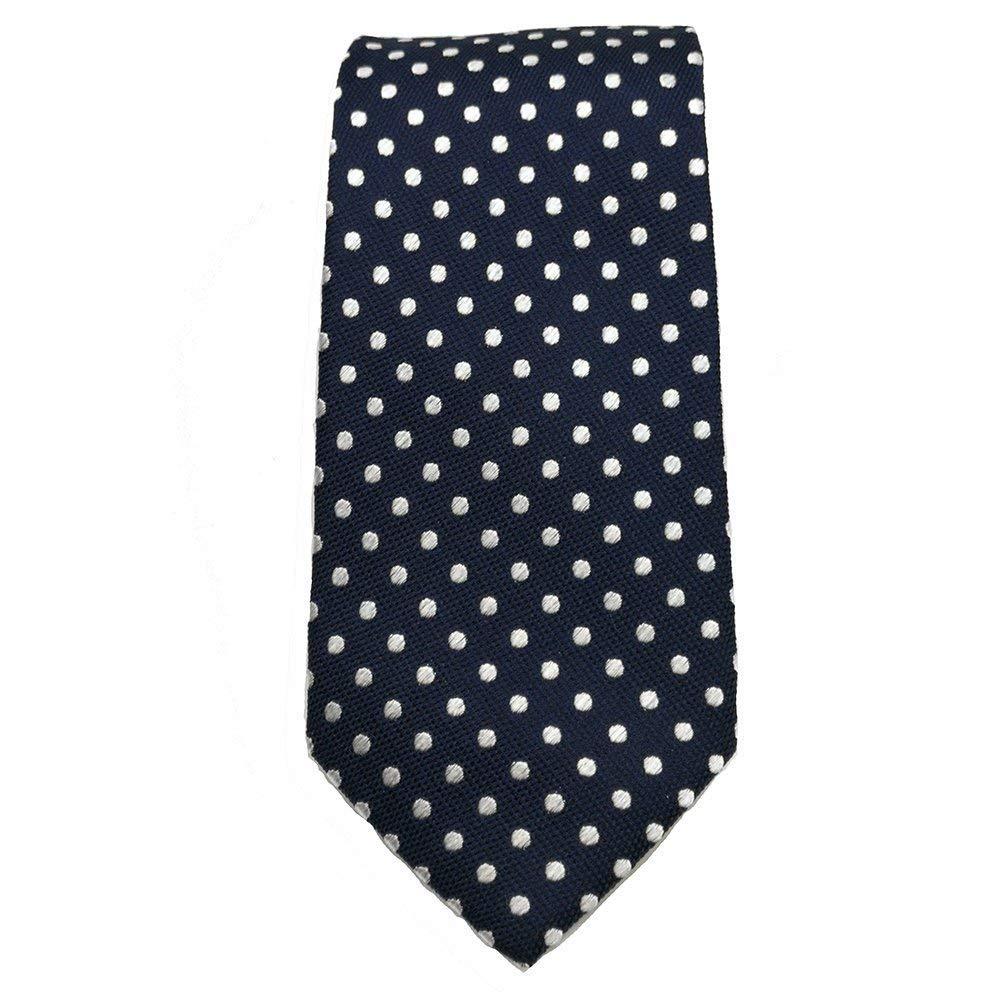 cravatta seta blu navy bianca motivo a pois cravatta uomo blu scuro cravatta casual cravatta da sposo cravatta nera scatola regalo by Qobod