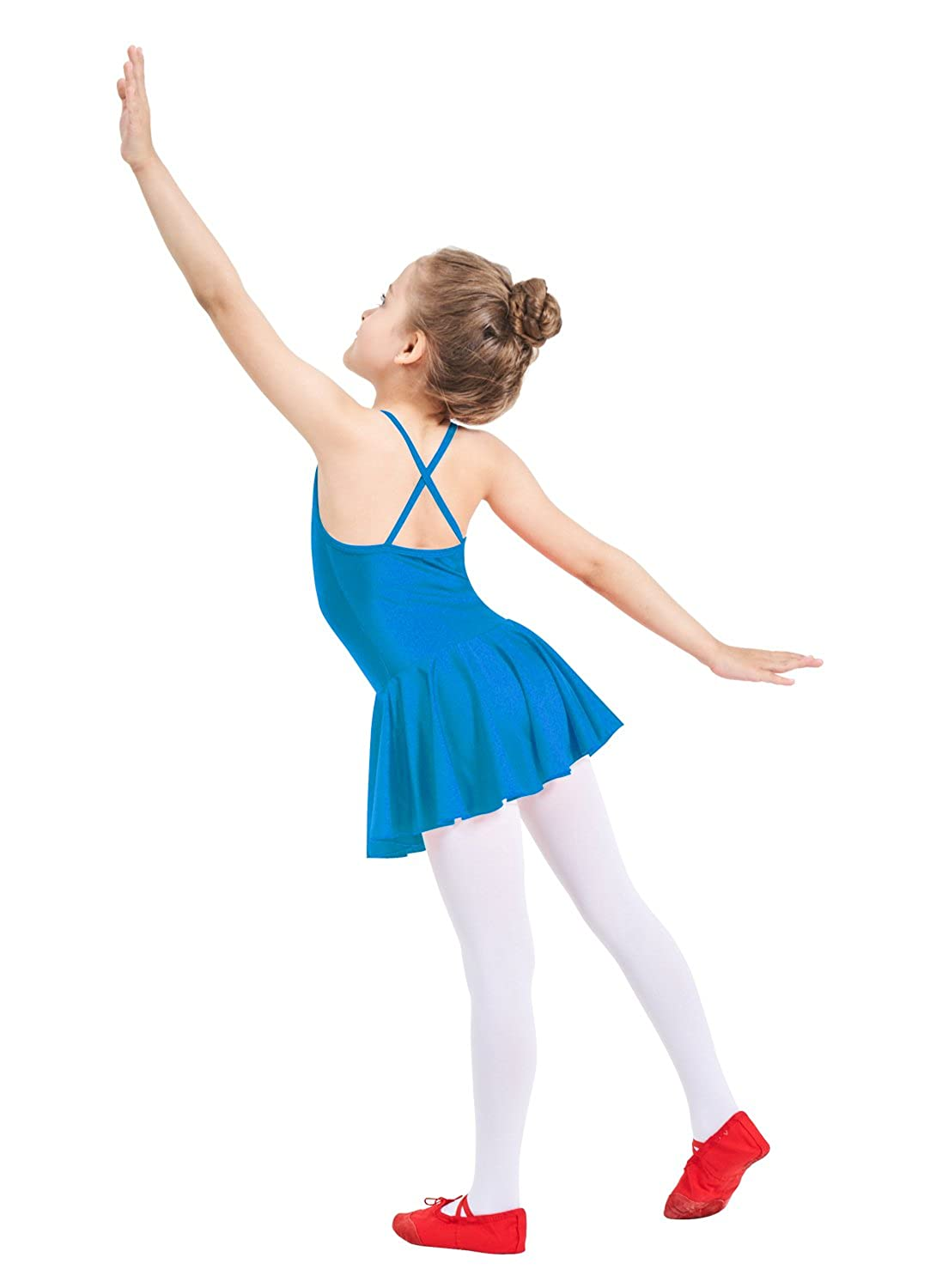 Ensnovo Girls Camisole Ballet Dress Children Skirted Leotard