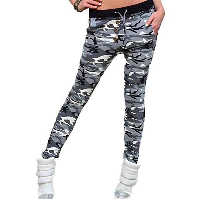Huixin Pantalones Vaqueros para Mujer Pantalones Botón para ...