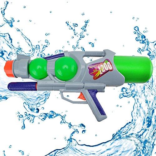 Wishtime Super Blaster Water Pistol Gun Super Soaker Water Guns Big for Adult Aqua Blaster Soaker Water Squirt Gun for Kids Hot Summer Water Games 1200ml(Color may vary)