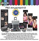 Glitter Temporary tattoo kit Pro Amusement