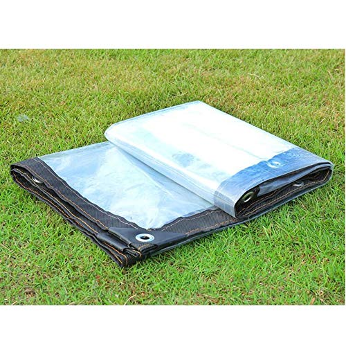 LQQFF Transparent Tarpaulin Thick Tarpaulin Waterproof, White Transparent Plastic Film, Greenhouse Insulated Tarpaulin Dust and rain Cover (Size : 22m)