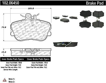 Centric Parts 102.06450 102 Series Semi Metallic Standard Brake Pad