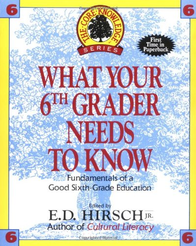 What Your Sixth Grader Needs to Know: Fundamentals of a Good Sixth-Grade Education (Core Knowledge Series : Resource Books for Grades One Through Six,)