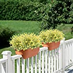 GTIDEA-4pcs-Artificial-Lilies-Flowers-Plastic-Greenery-Plants-Fake-Floral-Bushes-Yellow-Faux-Shrubs-for-Inside-Outdoor-Wedding-Bouquet-Home-Office-Garden-Table-Centerpiece-Patio-Yard-Decor