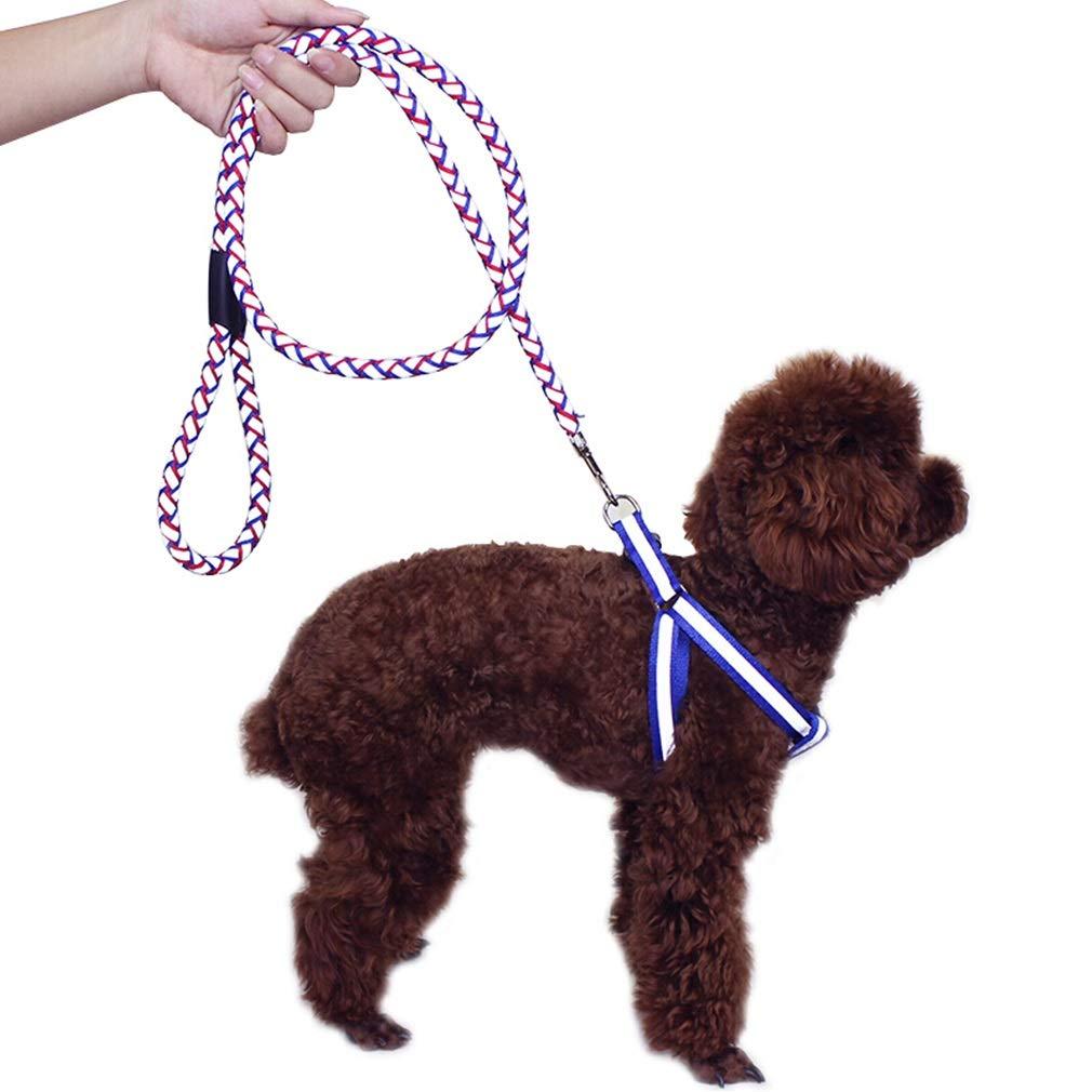M Dog Lead Leash Walking Soft Handles Adjustable Waist Belt Comfortable Safety Collar Reflective Ropewith Pet Leash (Size   M)