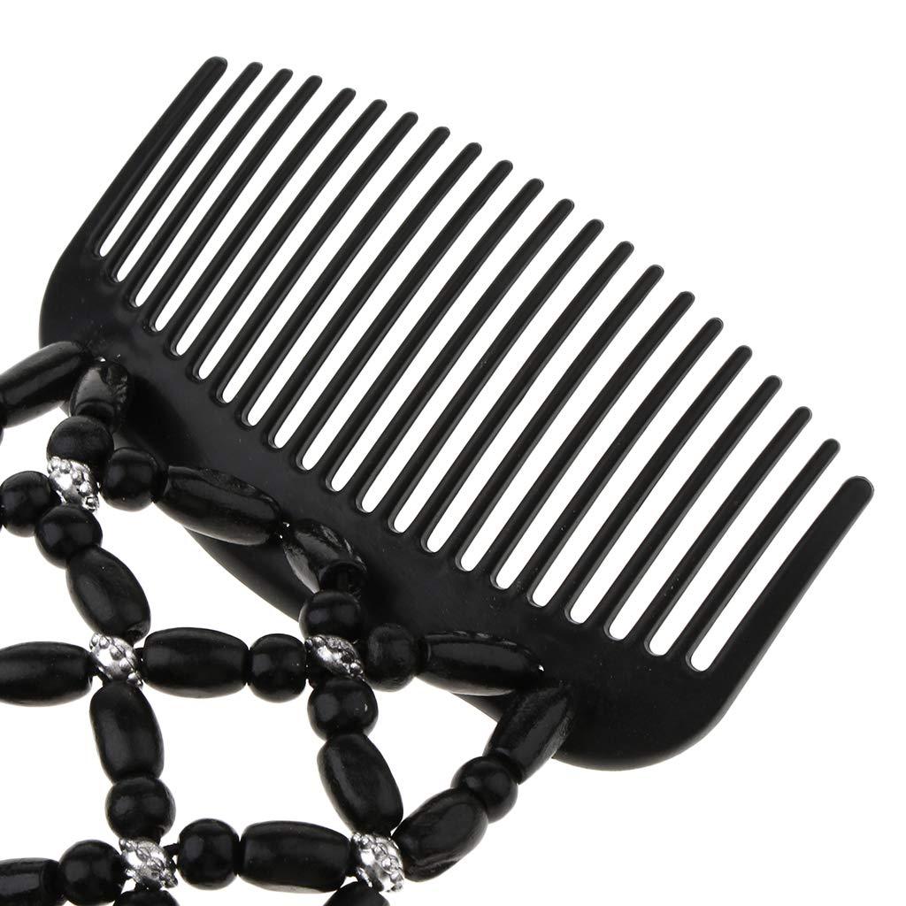 IPOTCH 2x Stretch Doppel Haark/ämme Einsteckkamm Steckkamm Haarklammer Haarspange f/ür Damen und M/ädchen