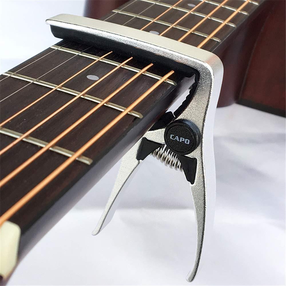 PUGST G7 Guitar Capo 7 en Forma Confort y fácil de Ajustar Clip de ...