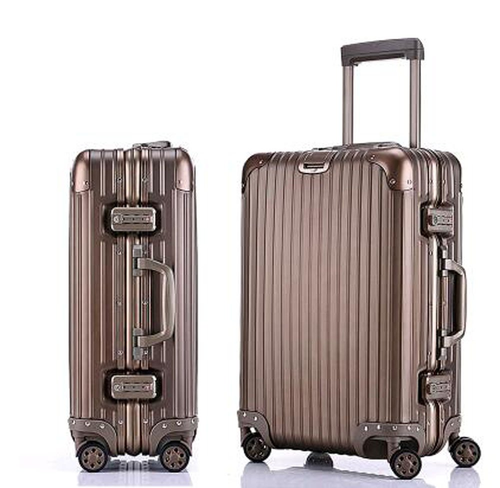 S-cas040 20/26/29インチ ビジネス スーツケース アルミニウム合金 5カラー TSAロック搭載 トランク B077HSW2T6 29インチ|チタンゴールド チタンゴールド 29インチ