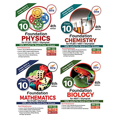 Foundation PCMB (Science + Maths) for IIT-JEE/NEET/Olympiad for Class 10 (Set of 4 books)