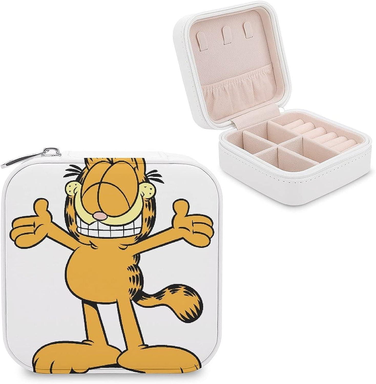 Garfield Odie Jewelry Box Storage Box PU Leather Portable Travel Jewelry Box, Ring, Earring, Necklace, Bracelet, Jewelry, Gift Box, Girl Cosmetic Box