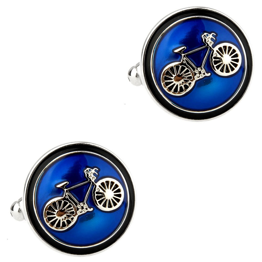 CIFIDET Round Blue Bike Bicycle Cuff Links Fashion Men Shirt Cufflinks With Gift Box TZG Cuff Links