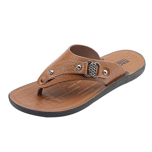 Chanclas de Hombre Verano 2019 Sencillo Vida, Zapatillas de Estar por Casa para Hombre Chanclas Unisex Adulto Chanclas Hombres Zapatos de Playa y Piscina ...