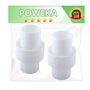 "Poweka 1.5"" Swimming Pool Cleaner Hose Connector Adapter Replace for Hayward AXV092 (1.5"" Diameter x 3.5"" Length) Pack of 2"