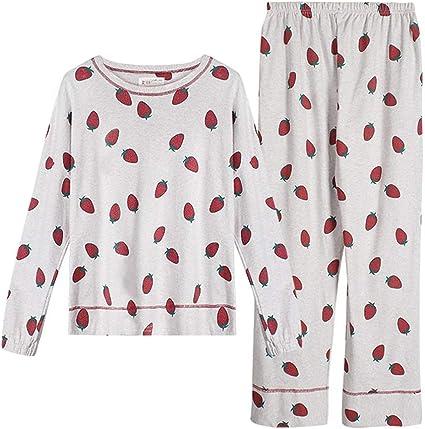 Camisones Pijamas Pijamas Mujer Dulce y Encantadora Cuello ...