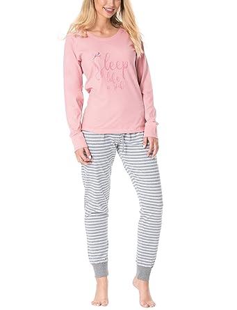 808c4f31b7 Rossli Sal-PY 1078 Women s Pyjama Set Striped Long Sleeved