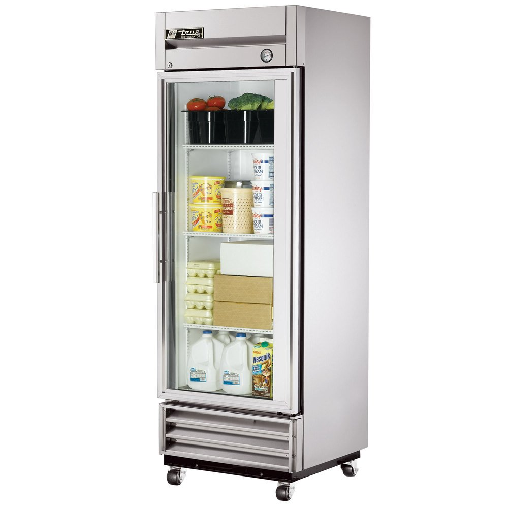 Amazon.com: True T-Series Right Hinged Glass Door Refrigerator, 19 ...