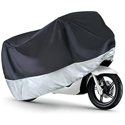 210*100 Waterproof Bicycle Rain Cover Anti Dust Proof Protector Garage For Scooter Motorcycle Of Accessory Silver Color Garden Supplies Home & Garden