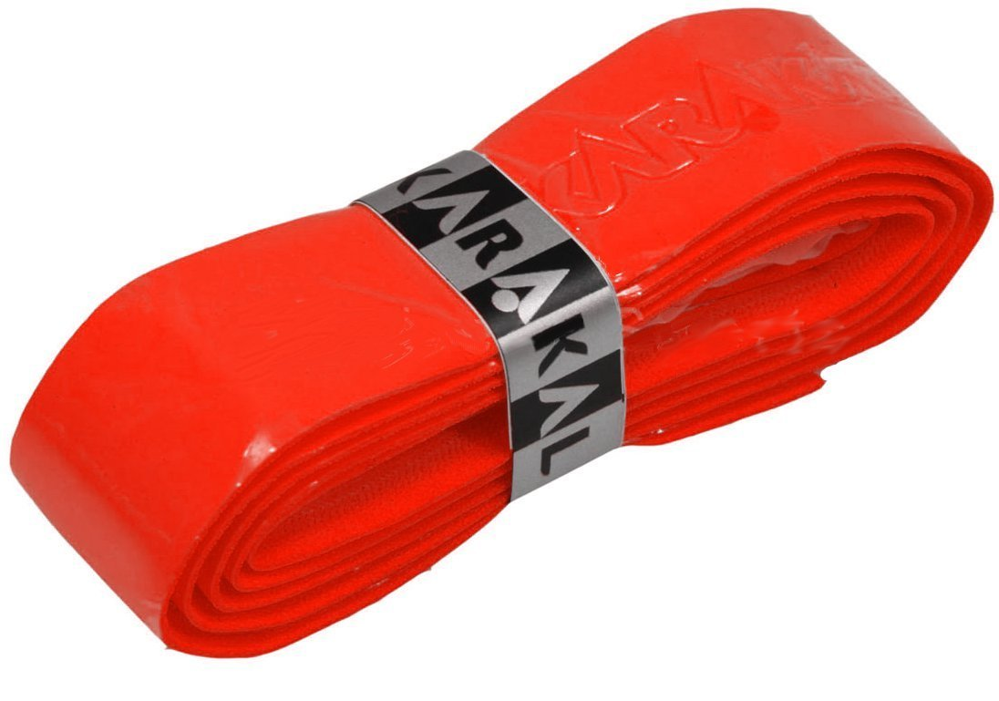Karakal PU Supergrip Replacement Racquet Grip - tennis / badminton / squash (Red, 6 x Grips)