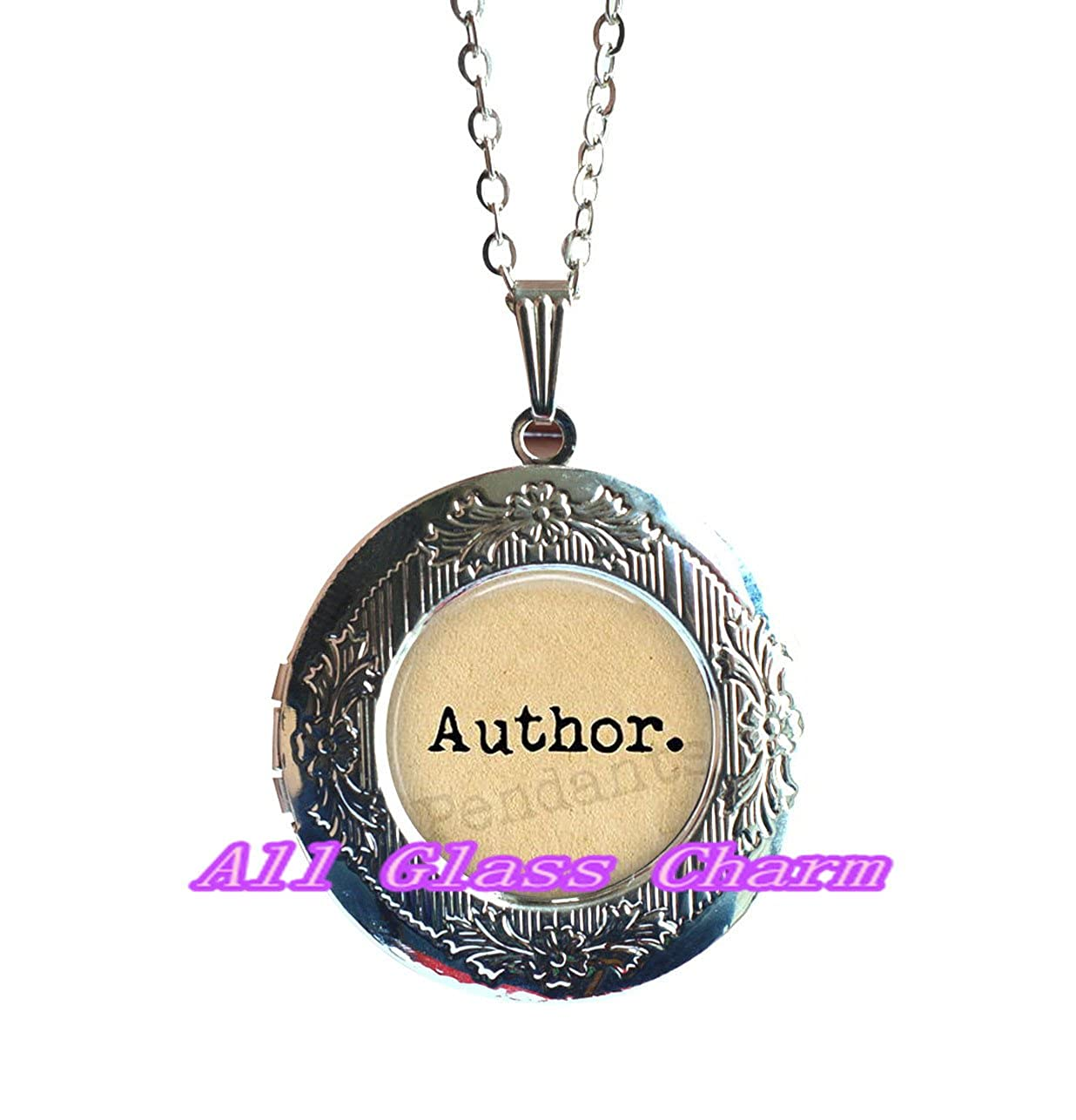 writing jewellery Beautiful Locket Necklace,Author Locket Necklace Locket Pendant author jewelry writer jewelry love to write literature jewelry,AS0171 gift for writer