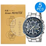 [5-Pcs] for Citizen AT8020 Watch Screen Protector, Full Coverage Screen Protector for Citizen AT8020-03L/AT8020-54L Watch HD Clear Anti-Bubble and Anti-Scratch