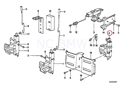 Amazon Com Bmw Genuine Actuator F Trunk Lid Automotive