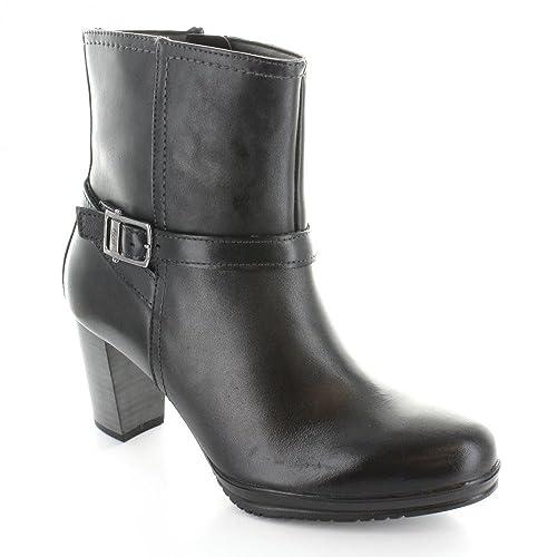 35bf67b4cd8e8 Flexi- Botín Negro de Piel Bota para Mujer Negro Talla 23  Amazon ...