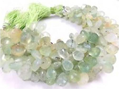 Natural Prehnite Pears Faceted