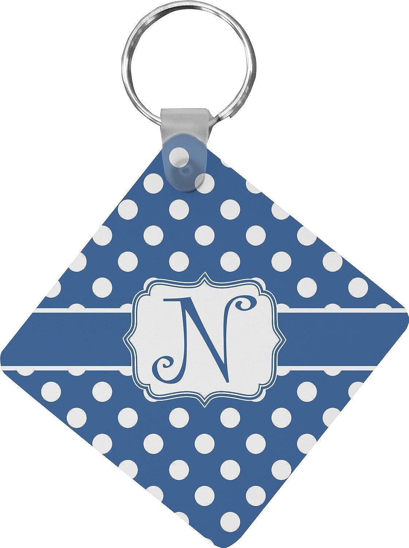 Polka Dots Diamond Key Chain (Personalized)