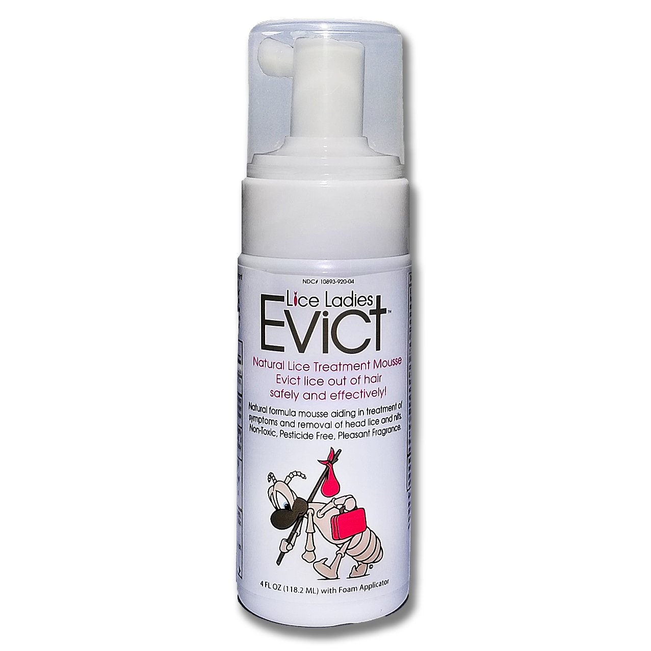 Lice Ladies EVICT / All-Natural, Non-Toxic, Fast Acting Lice Treatment Mousse / homeopathic formula / 1 – 4 oz Foam applicator