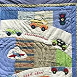 Twin Size Quilts, Quilts Patchwork Style with Sham, Reverses To Coordinating Design, 100% Cotton, TWIN, 68 x 86 (Transportation)
