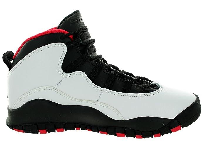 new arrival f878b 26cea Amazon.com   AIR Jordan 10 Retro Big Kids Style, White Black True Red, 5.5    Basketball