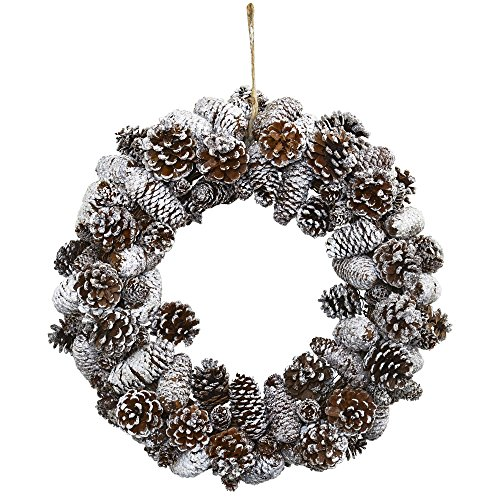 Nearly Natural 4553 Snowy Pine Cone Wrea - Snowy Cone Shopping Results