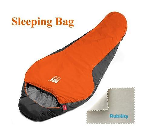 Portátil Plegable Sleeping Bag Recorrido Acampa Algodón Sobre Saco Dormir --- Naranja