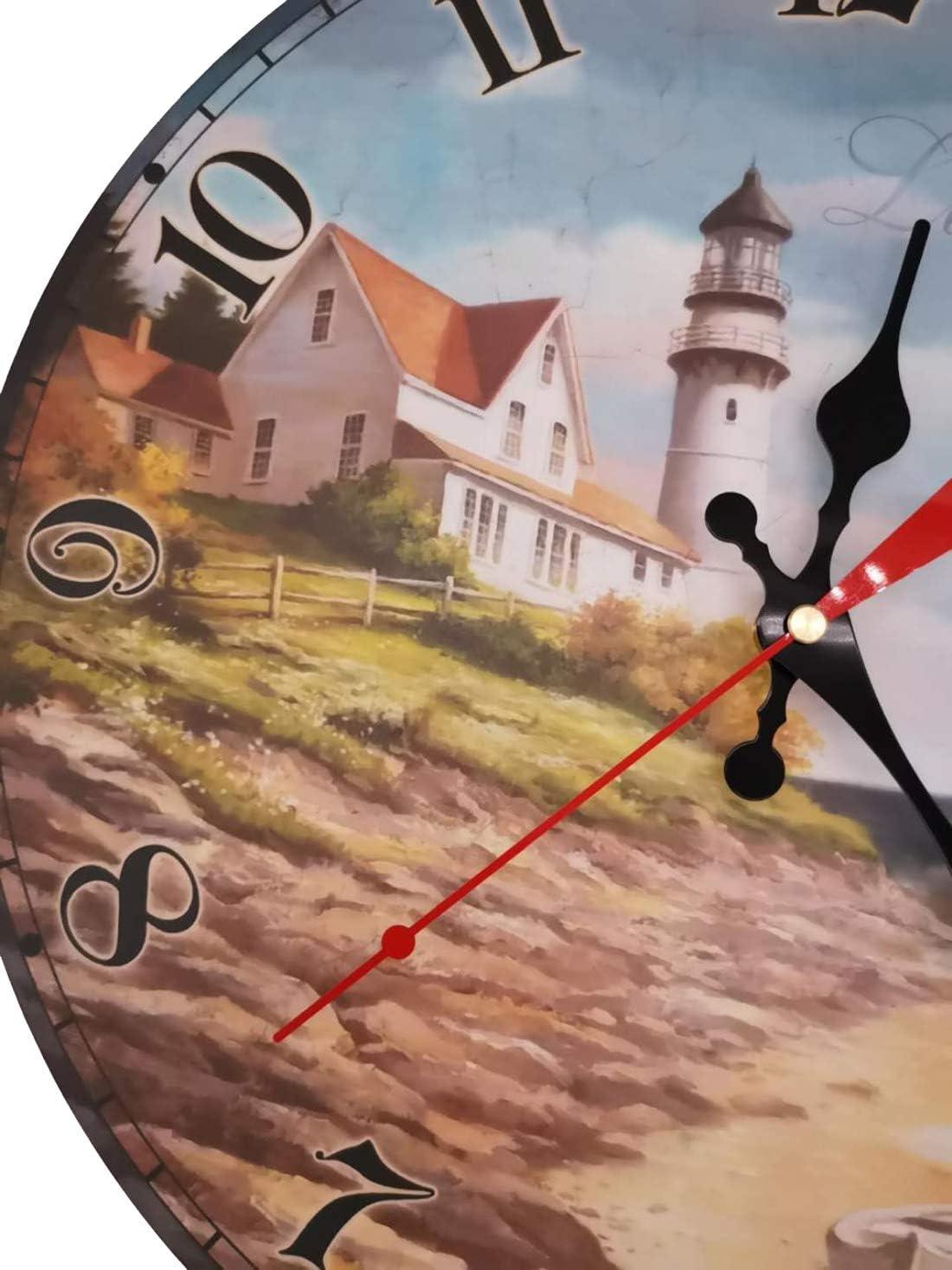 Chef, 30cm VieVogue Horloge Murale Silencieuse Pendules Murales D/écorative en Bois Style Vintage Rustique Minable D/écor Cuisine Maison Chic pour Le Salon Chambre Cuisine Bureau sans Tic Tac