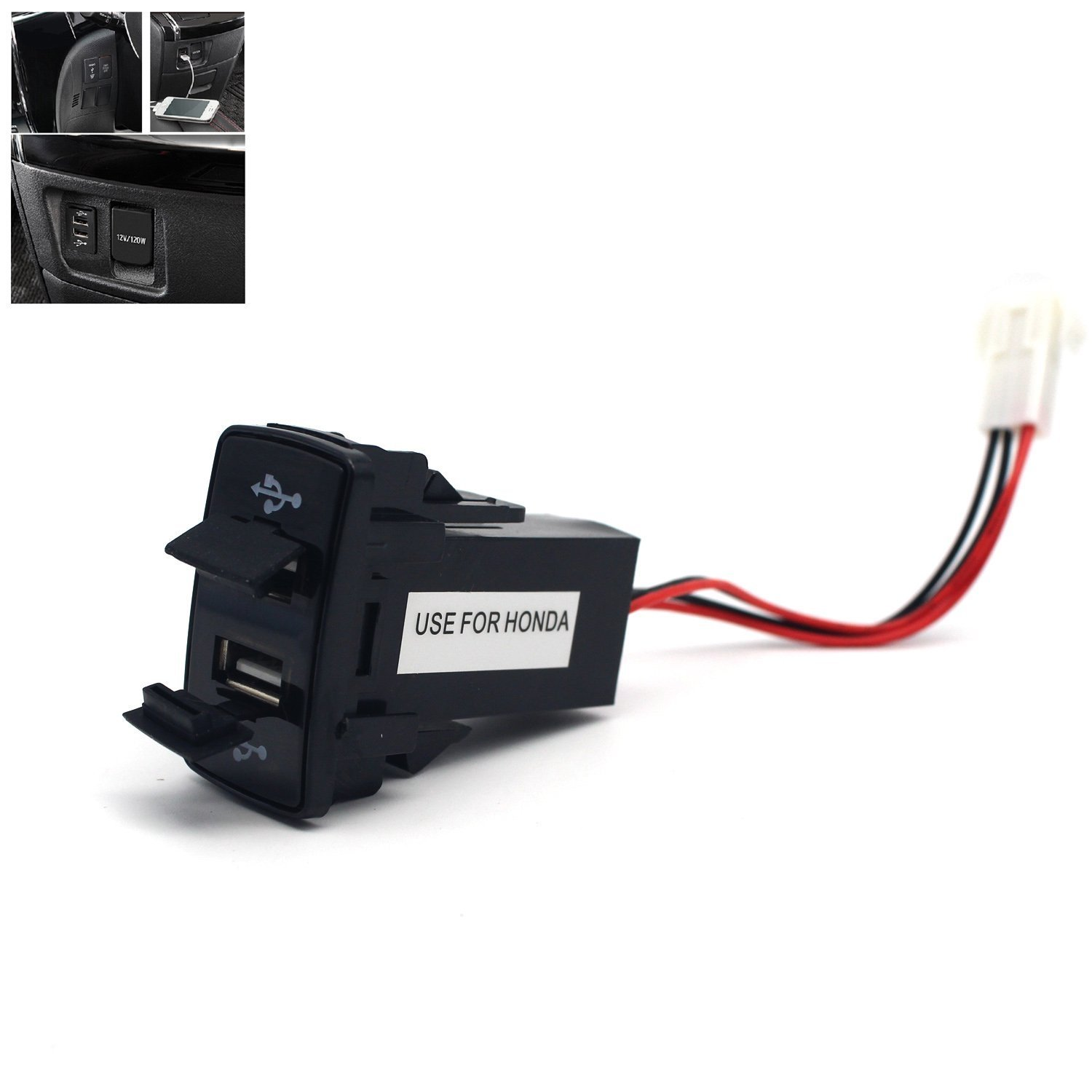 Motong 21a Dual Usb Socket For Honda 2007 Fit Fuse Box Power Port Iphone X 8 7 6 5 Ipad Samsunglghuawei And More44 26mm